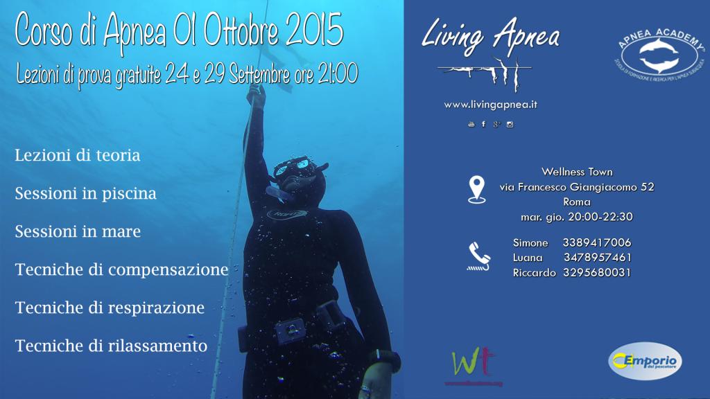 Corso Apnea Ottobre 2015